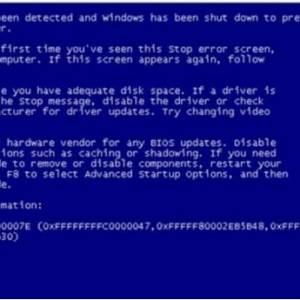 常见电脑蓝屏代码产生的原因及解决办法