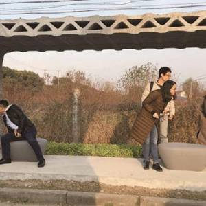 国内现身——世界首个3D打印公交车站
