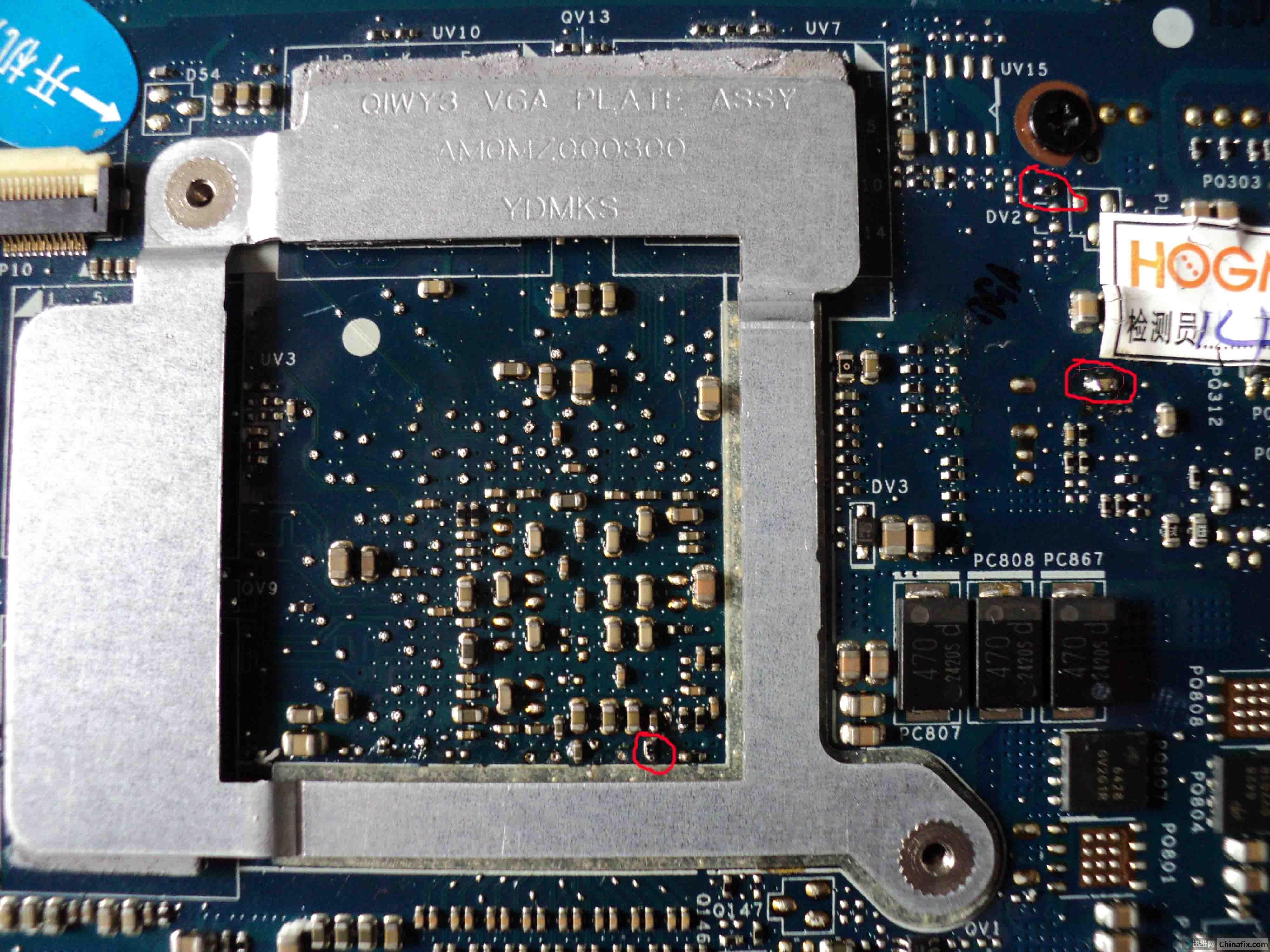le的电路板上代表什么
