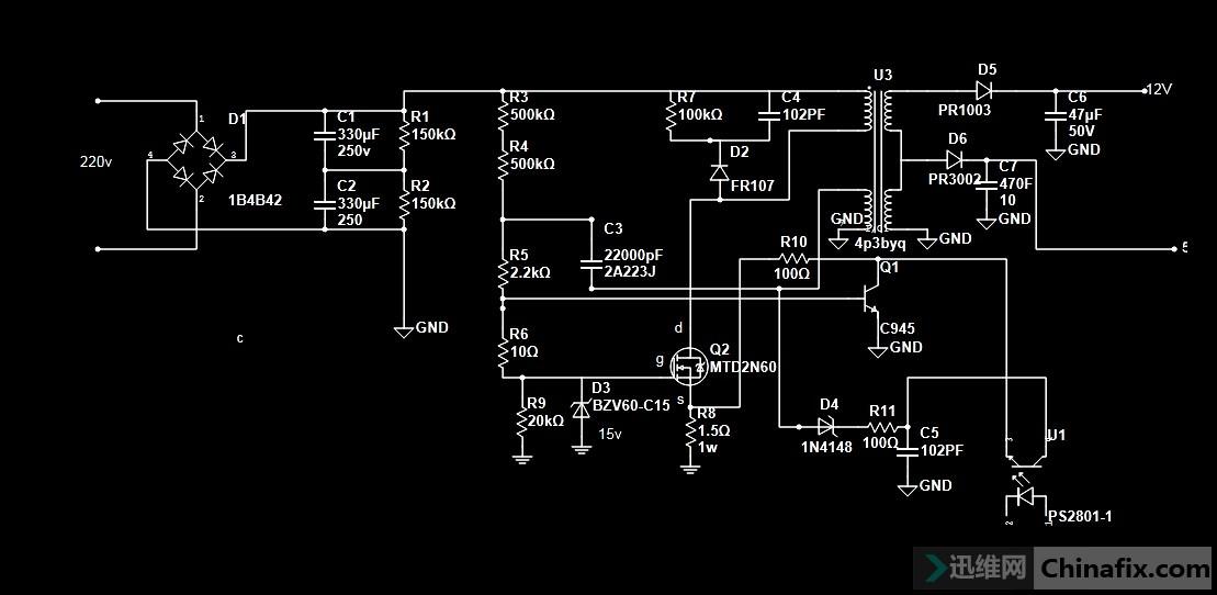 发个2n60为辅助电源的图纸