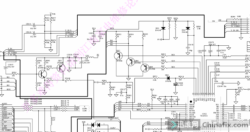 创维6d75/6d7x机芯电源板原理图