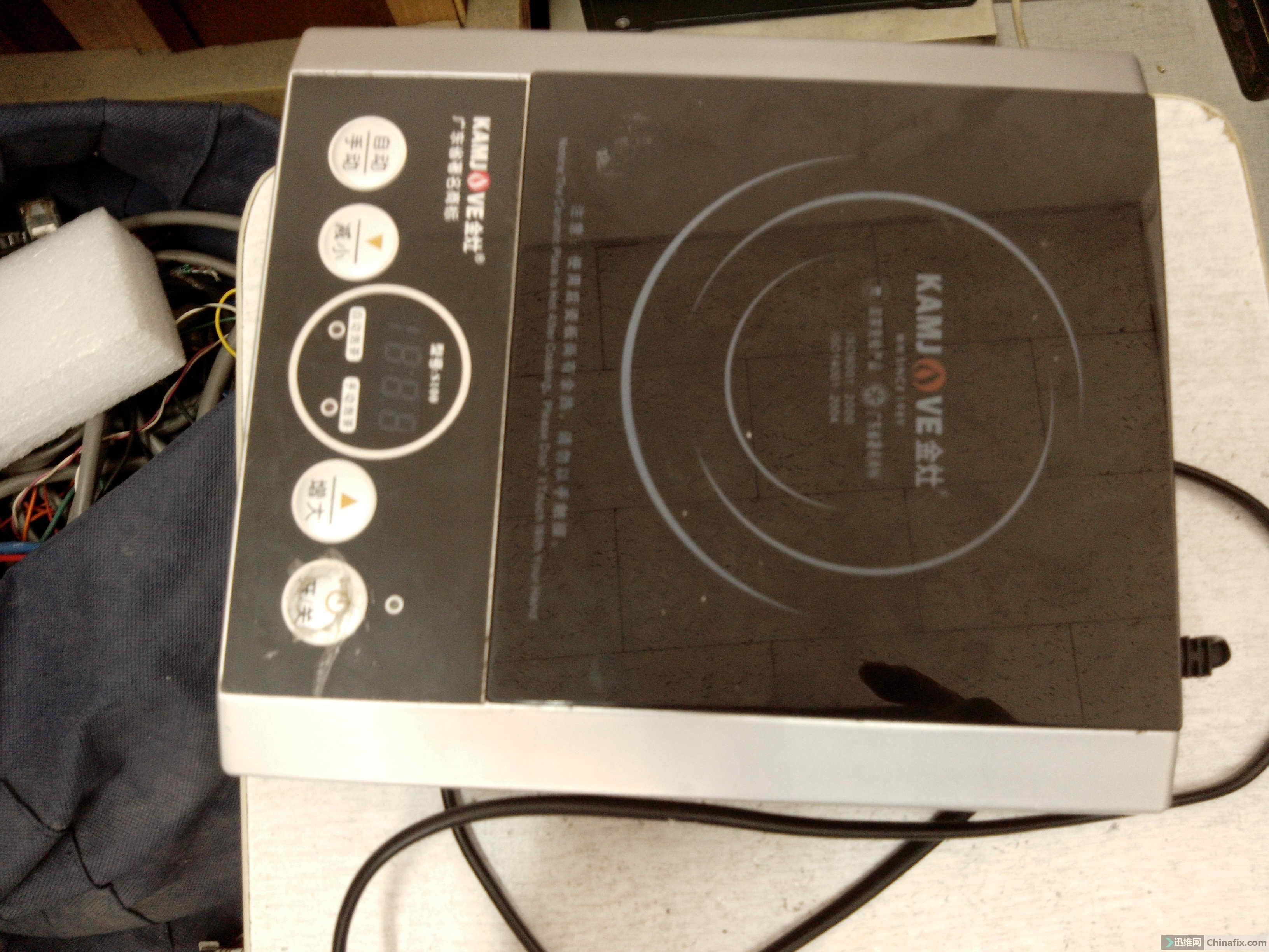 金灶s100的电路图—烧水的电磁炉不能加热如何修理(已