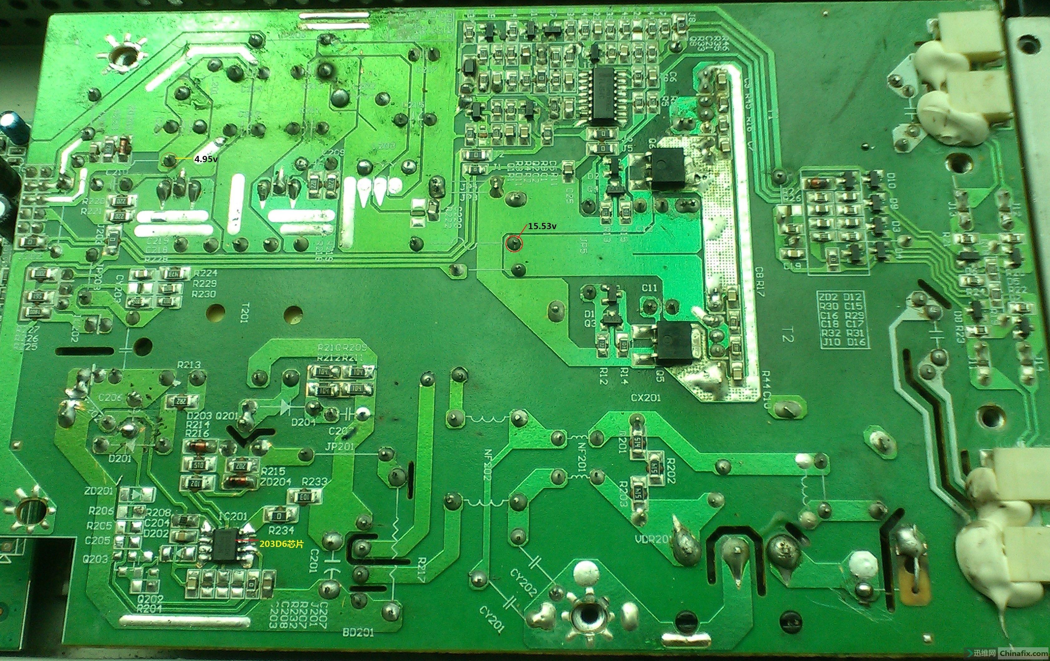203d6芯片电源 高压电路板反面图9.jpg