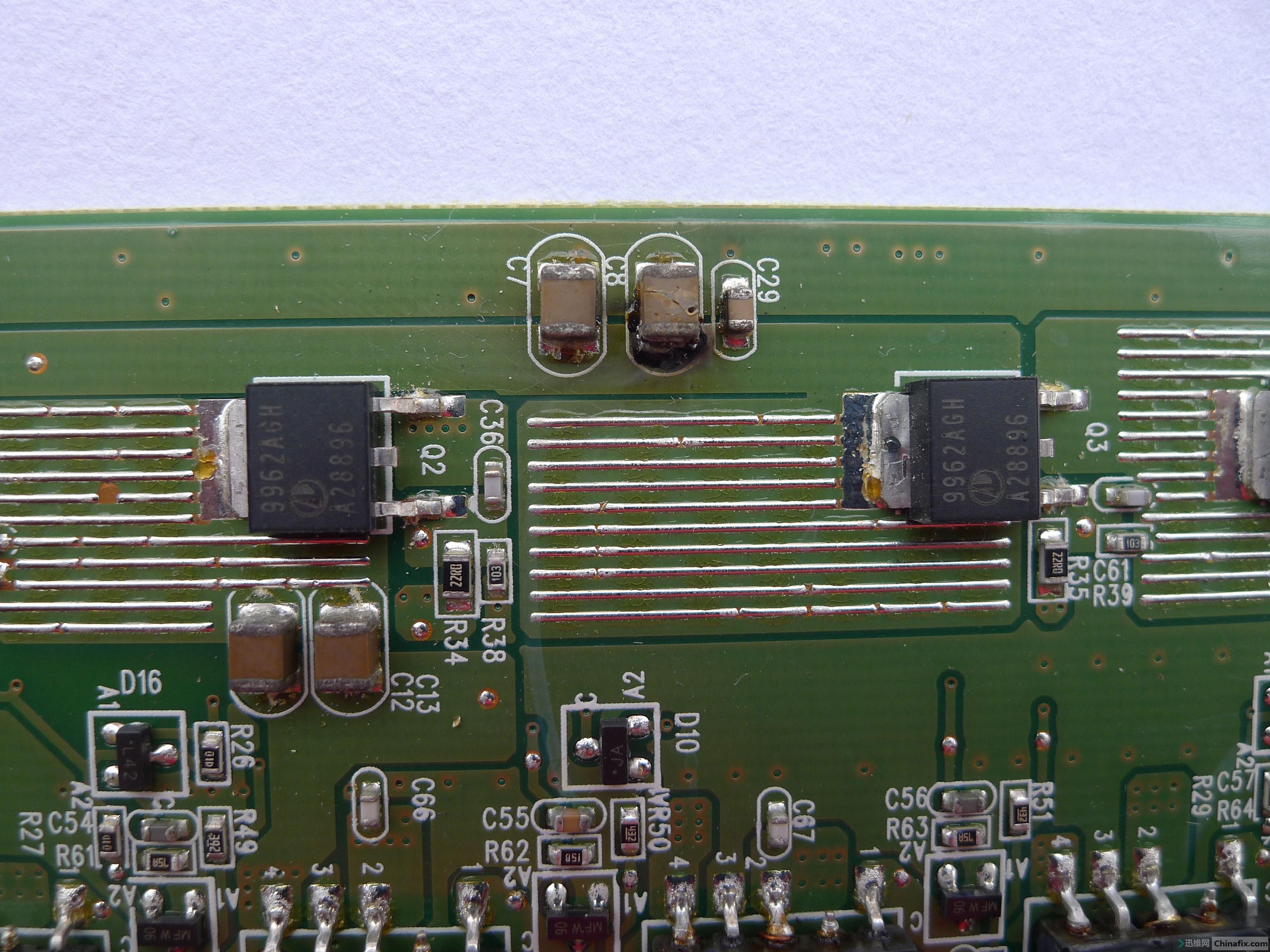 戴尔dell 2209waf的高压板上的贴片电容替换?