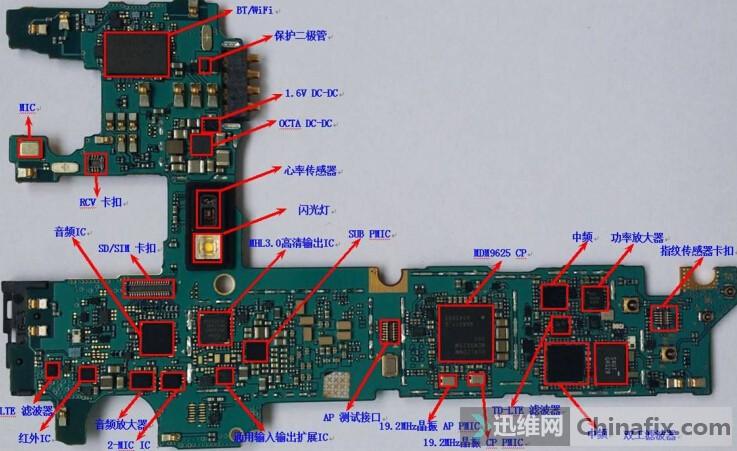 简单有效的手机主板破损维修方法