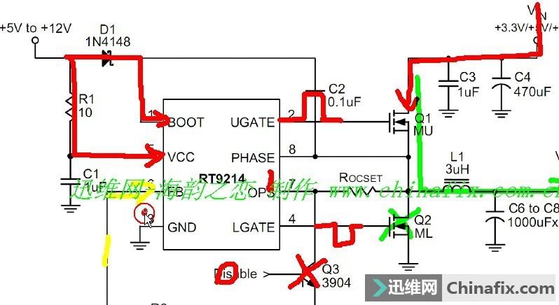 如何判断pwm电路自举升压电容坏或者二极管坏,如果电容坏或者二极管坏,怎么才可以一次就测出来呢或者说,如果坏了有什么现象?? 就比如下图,C2 D1任意一个出问了,会发生什么事情,根据经验,什么情况可以直接知道,就是自举升压出问题了??