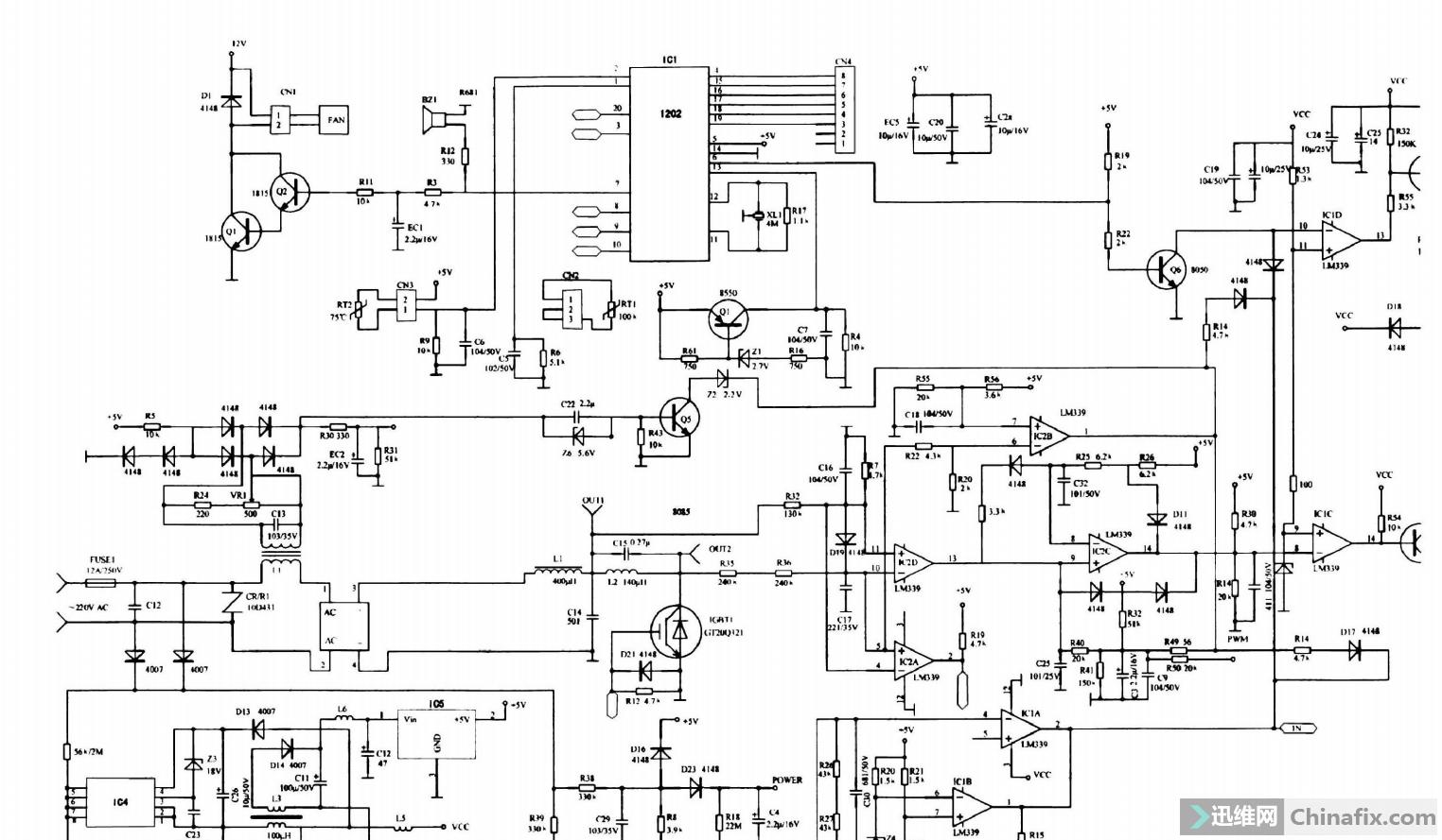电磁炉美的MC PY18A主板电路图 迅维网维修论坛图片