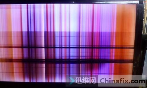 tcl液晶电视机屏幕边板故障维修