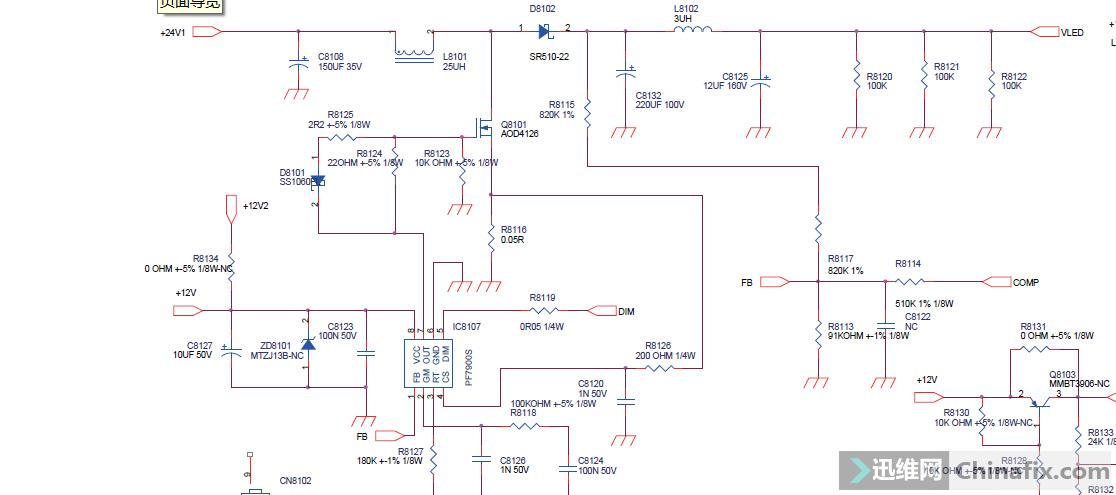 长虹led32919电源板电路图715g5194
