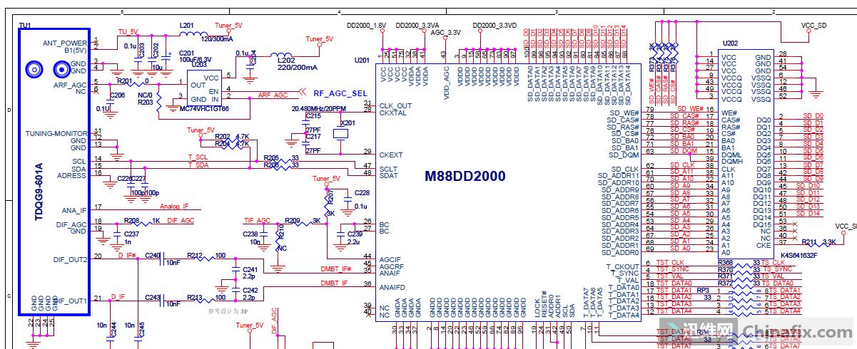 tcl l42p50fbde液晶彩电主板图纸