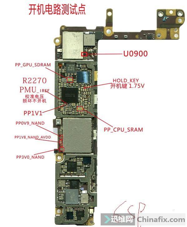 苹果6sp开机电路量测点介绍-迅维网维修论坛