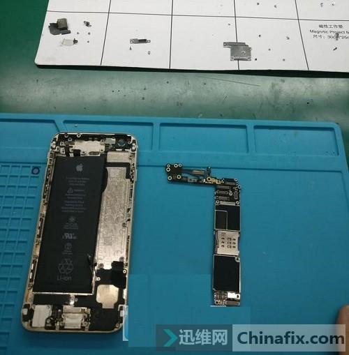 iPhone6插卡手机无服务通病维修思路 图6