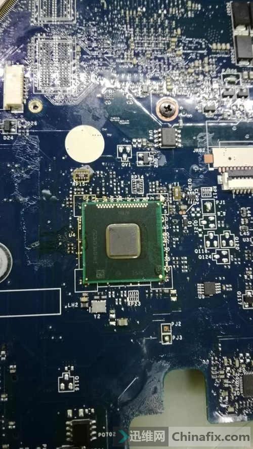 联想G510进水 笔记本自动关机维修 图3