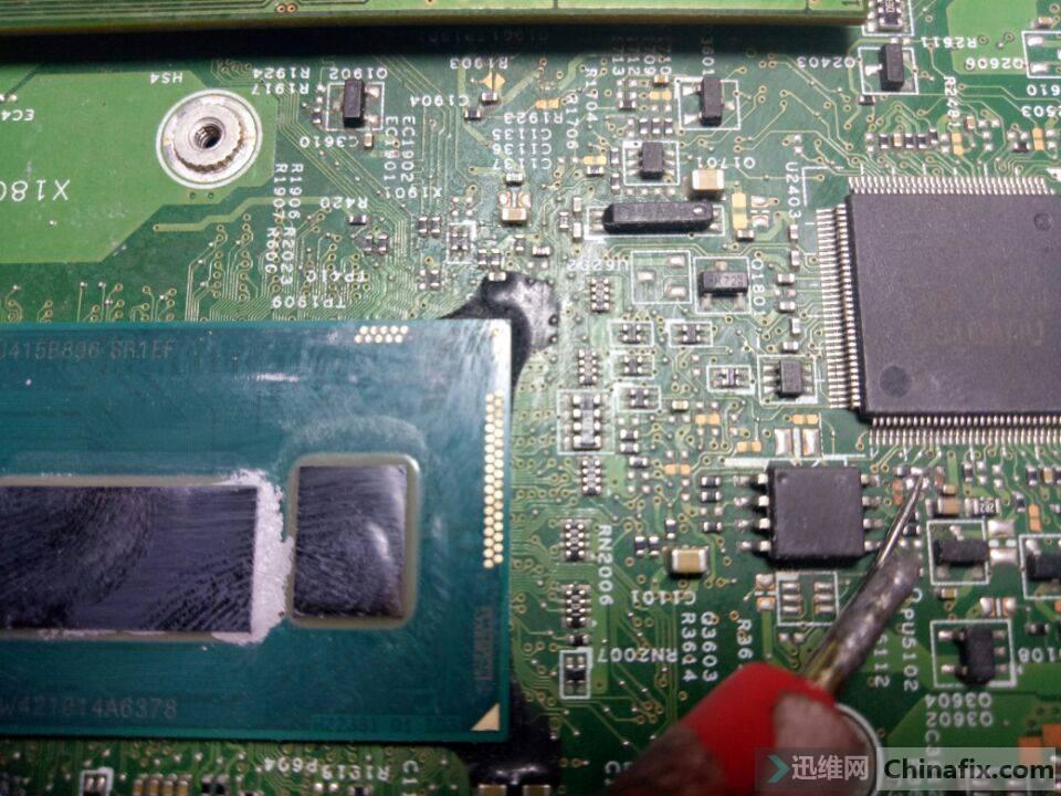 掉的电阻 焊连一起