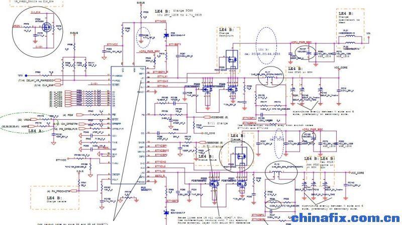直接将ic 和mos管一起换掉,再通电,电流到0.