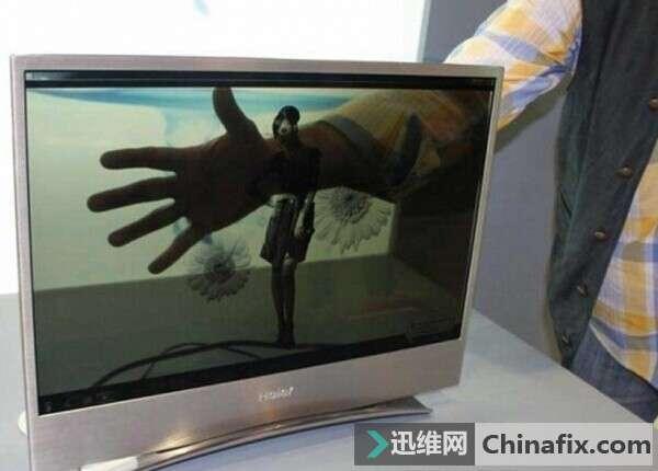 海爾在ifa2012展出的22英寸透明顯示電視機,基于oled屏幕.圖片