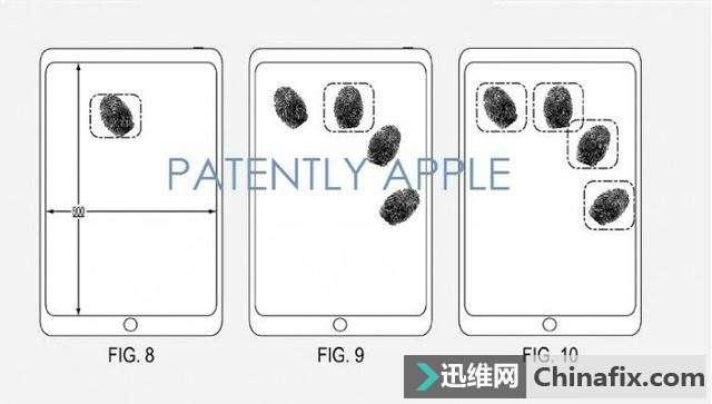 最新蘋果屏下指紋專利曝光:識別覆蓋全屏幕圖4