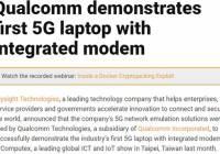 高通展示首款集成调制解调器的5G笔记本电脑