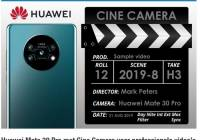 华为申请新的商标Cine Camera 可能用于Mate 30系列