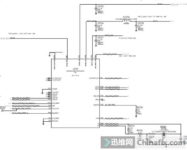 IPhone7苹果手机线路图原理图D10 051-00419 820-00188...