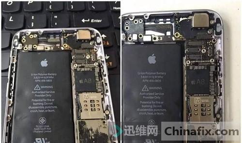 iPhone6手机电池充不进电维修 图1