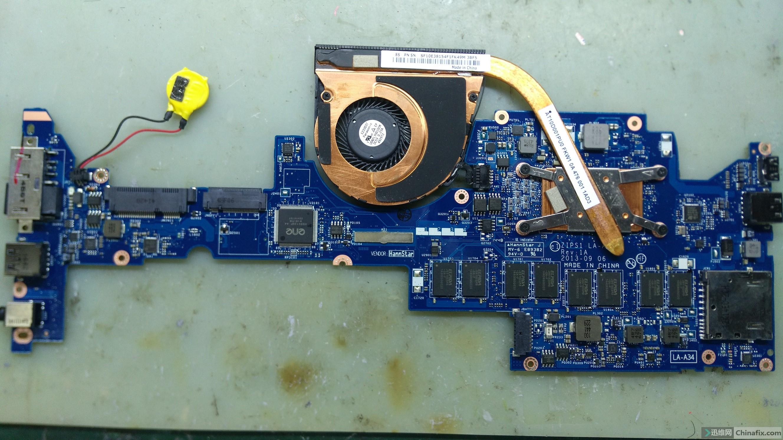 S1 YOGA LA A34P BIOS 迅维网维修论坛