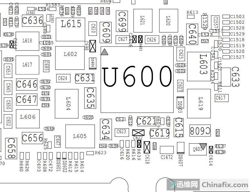 U600 Q601位置图