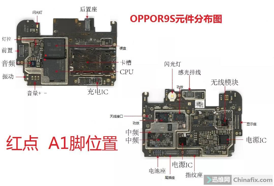 oppor9s元件分布图