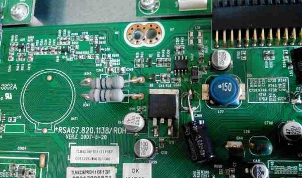 海信TLM4236P液晶电视有图像没声音故障维修5