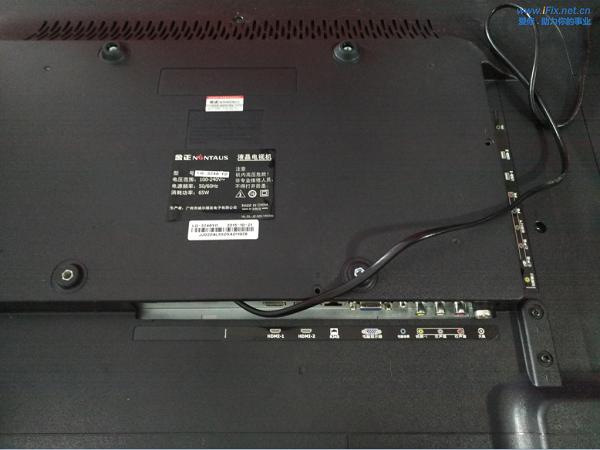金正液晶电视红灯亮不开机 打印缓存故障维修 图1