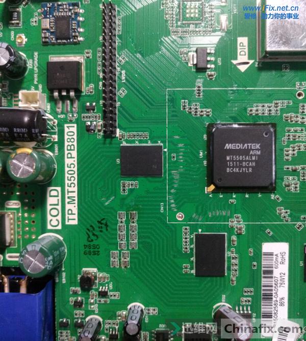 金正液晶电视红灯亮不开机 打印缓存故障维修 图3