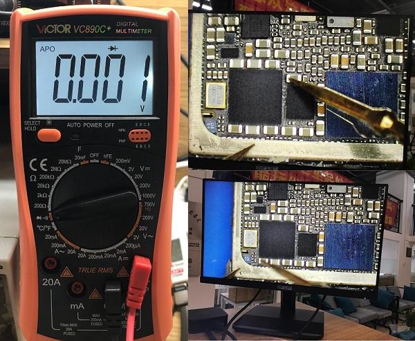 iPhone7/7P基带1V短路引起设备重启修复 图2