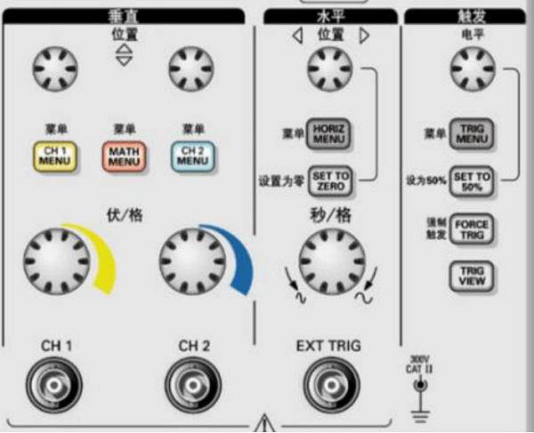 示波器控件作用与屏幕信息 图3