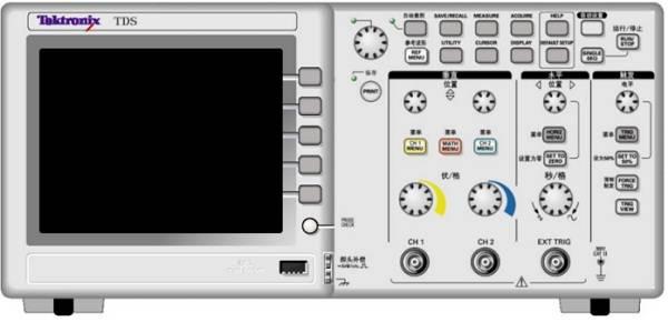 示波器控件作用与屏幕信息