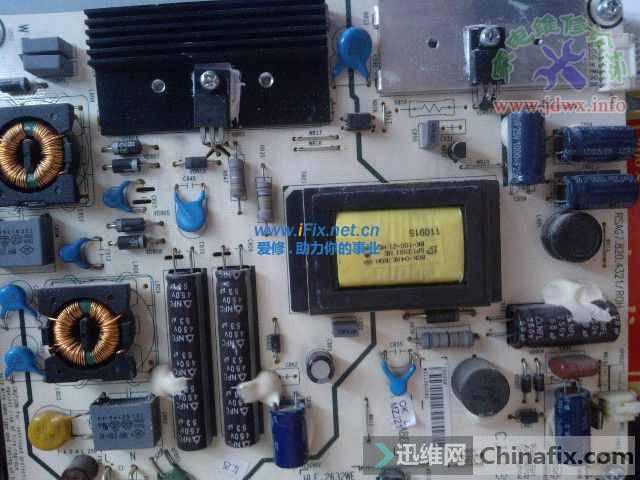 海信LED260K01液晶电视开机黑屏有声音故障维修 图2