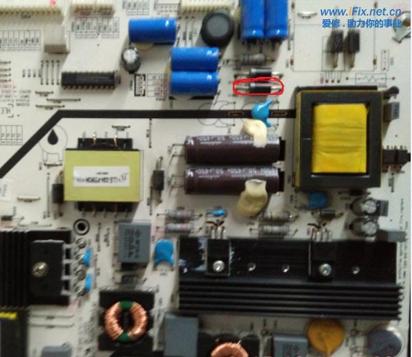 海信LED55K310X3D液晶电视不开机故障维修2