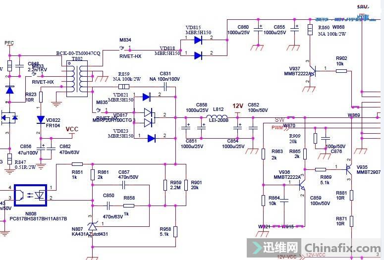 海信LED55K310X3D液晶电视不开机故障维修5