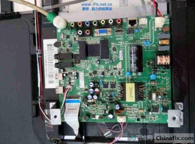 康佳LED42E320N液晶电视热机背光一亮一灭故障维修 图1