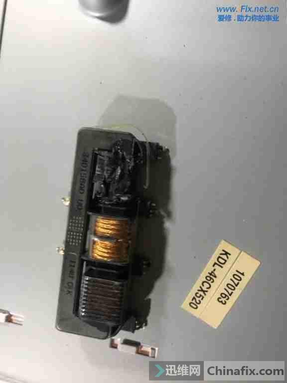 索尼kdl-46cx520液晶电视不开机故障维修3