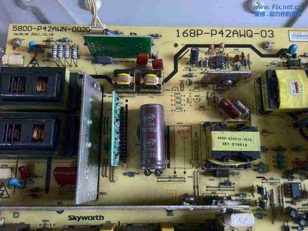 创维42K03HR液晶电视雷击三无故障检修 图2