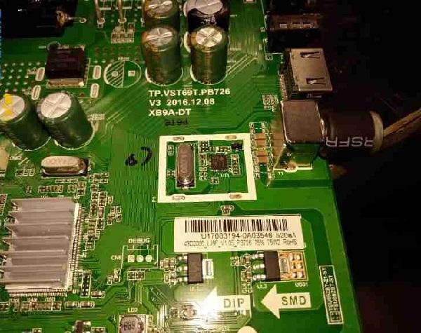 长虹43D2000液晶电视有背光无图像故障维修 图1