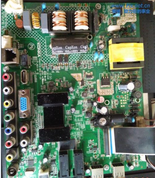 康佳LED32F2200NE液晶电视花屏故障维修与数据分享2