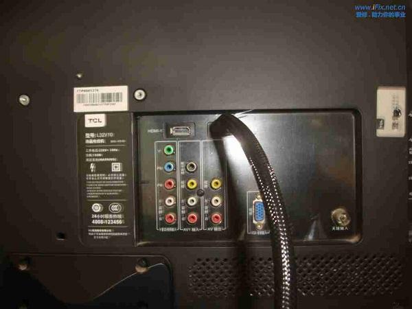 TCL-L32V10液晶电视花屏故障维修一例