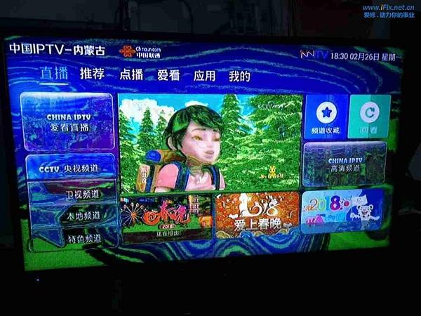 海信LED40K160JD液晶电视花屏故障维修案例1