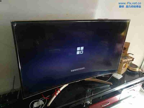 康佳QLED55X80U曲面液晶电视系统损坏升级故障维修案例3