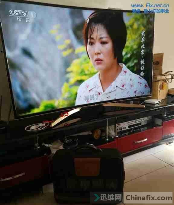 康佳QLED55X80U曲面液晶电视系统损坏升级故障维修案例1