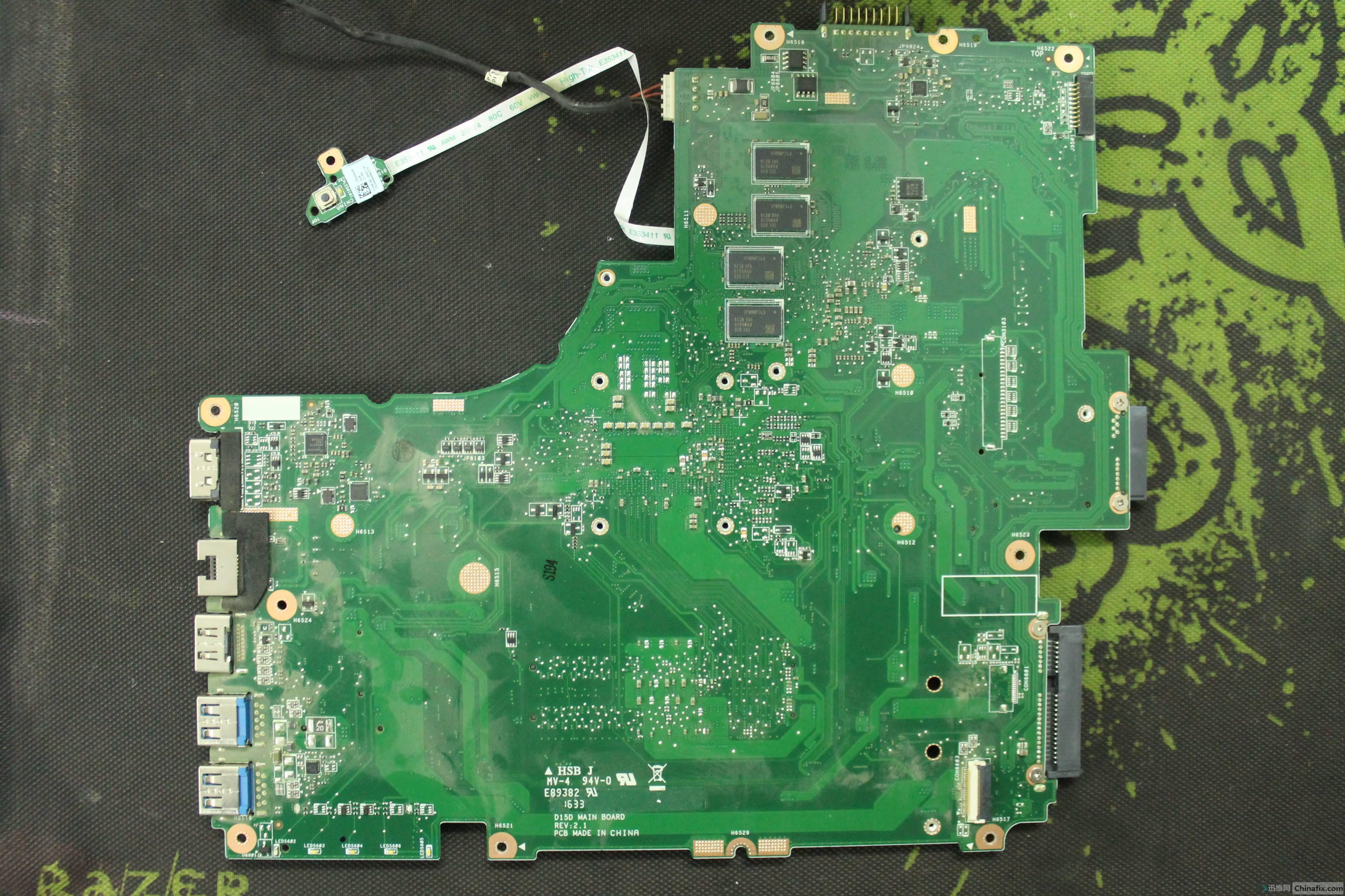 麦本本 大麦3S 板号:D15D MAIN BOARD REV:2.1 反面.JPG