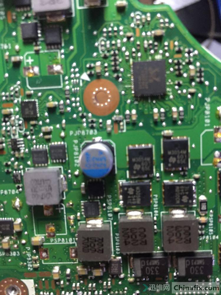 这个是他返回来的主板CPU供电芯片图