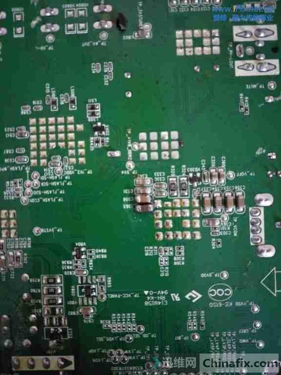 康佳LED32F1100CF液晶电视开机灰屏背光灯亮故障维修案例5