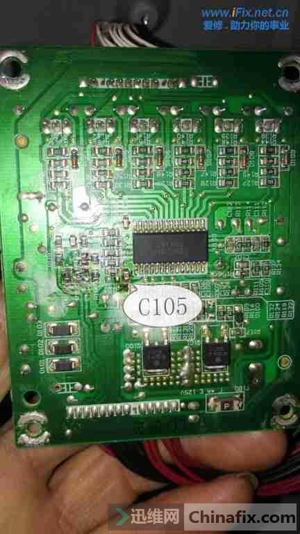 创维42E500E(8R55机芯)电视开机后屏幕很暗故障维修案例2